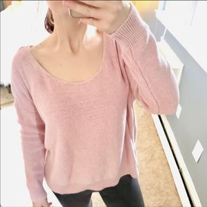 NWT Anthro moth pink oversized knit sweater